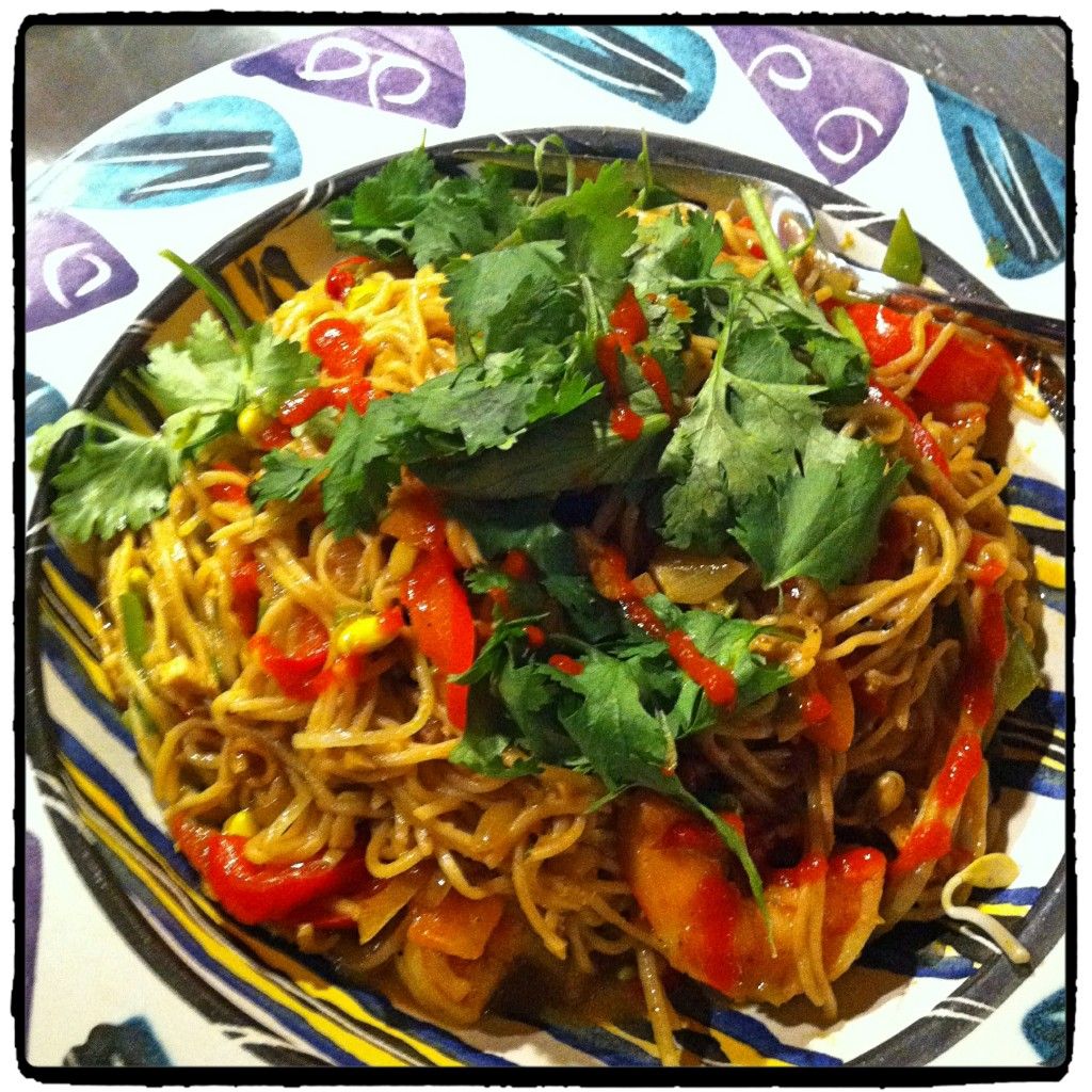 Singapore Noodle - Vegetables - Noodles - Shrimp - Mains - Undercover Chef - Nicolette Felix